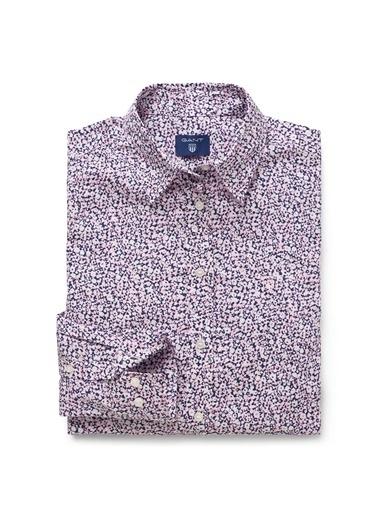 Gant Desenli Slim Gömlek Pembe